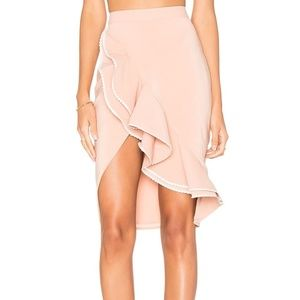 NBD x REVOLVE Zayleigh Ruffle Nude Mini Skirt